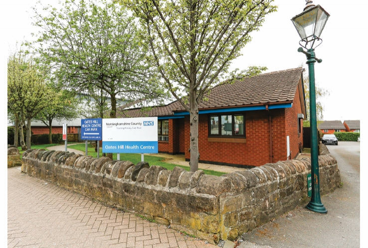 Oates Hill Health Centre<br>2 Forest Street<br>Sutton in Ashfield<br>Nottinghamshire<br>NG17 1BE
