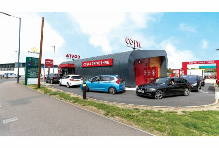 Costa Coffee Drive Thru<br>Warwick Old Road<br>Leamington Spa<br>Warwickshire<br>CV31 3NT