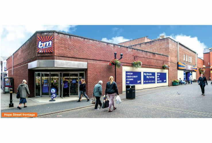 B & M<br>22 - 26 Standishgate<br>Wigan<br>Greater Manchester<br>WN1 1UE