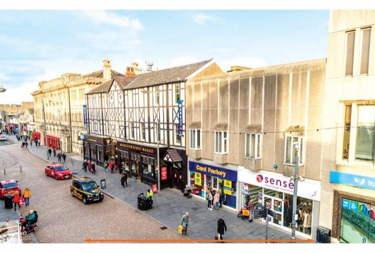 Abingdon Street Indoor Market and 6/8, 10/12, 14 and 22/24 Abingdon Street<br>Blackpool<br>Lancashire<br>FY1 1DA