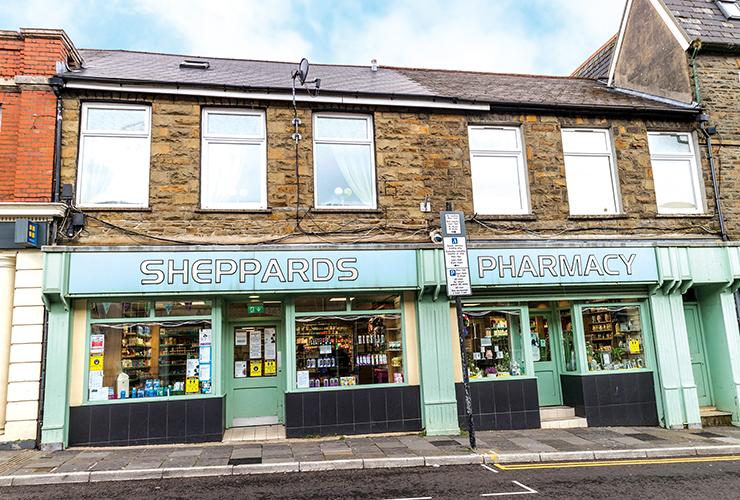 Sheppard's Pharmacy<br>65/66 High Street<br>Ferndale<br>CF43 4RR