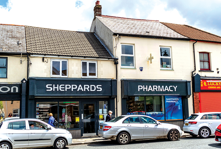 Sheppard's Pharmacy<br>14 & 16 Commercial Street<br>Nelson<br>CF46 6NF